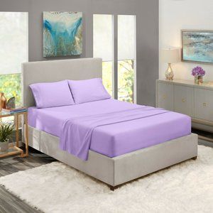 Lavender Egyptian Comfort Bed Sheets 4 Piece! Sale